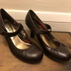 Candie's brown Mary Jane Heels